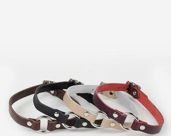 JAKIMAC O-Ring Choker Necklace / Genuine Leather
