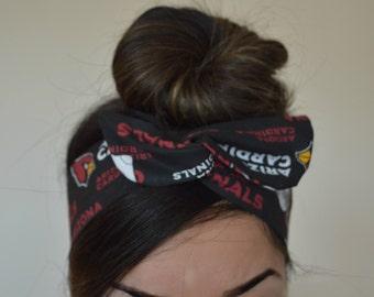 Arizona Cardinals, headband, Dolly bow head bands, head band, hair bow