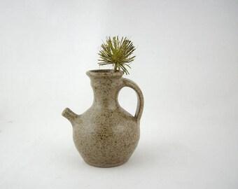 Mid Century Modern Art Studio Stoneware Pitcher, Pottery Jug, 1970s