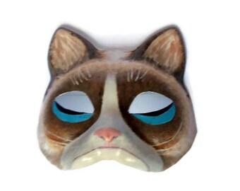 Paper mache masks  handmade  Cat mask