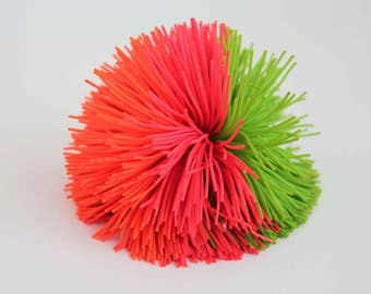 Vintage Koosh Ball Original 90s Toy Orange Red Green 90s