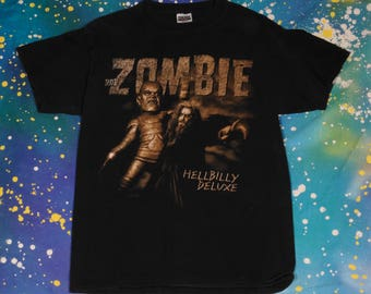 ROB ZOMBIE White Zombie Metal Rock T-Shirt Size L