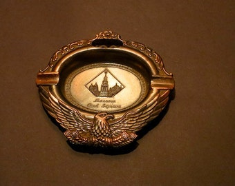 Vintage Metalwork Moscow Russia Ashtray Perfectly Aged