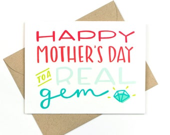 mother's day card - real gem