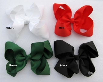 6 Inch Hairbow Boutique Bow Choose from 15 Colors Big Bow Large 6 Inch Big Bow Wide Grosgrain Ribbon Girl Loopy Bow Accessory Ready to Ship