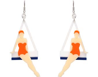 Diving Girl Ear-rings