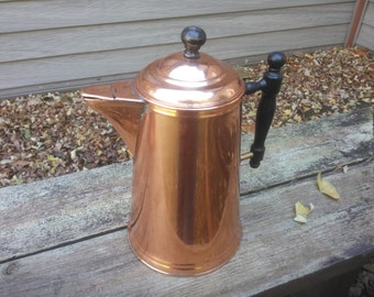 Vintage Copper Coffee Pot