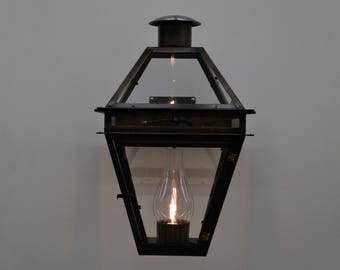 "22 1/2"" Electric Quarter Copper Lantern Bronze Patina"