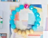 Essential oil bracelet diffuser jewelry doterra youngliving oils blue beaded bracelet wood beads