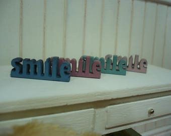 SMILE wooden letters, scale 1: 6