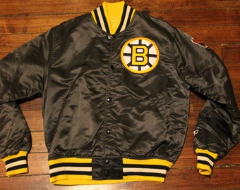 Boston Bruins starter jacket vtg NHL Hockey vintage satin jacket medium