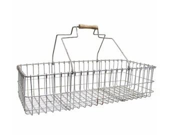 Vintage Rustic Wire Basket
