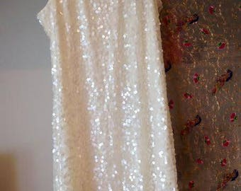 White Sequin Evening Dress