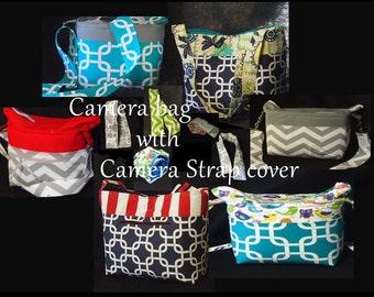 Huge Dslr Camera Bag & Camera Strap Cover  \ Water Resistant \ Camera Case \ Slr Camera Bag \ Nikon Canon Sony \ 17x6x10 Dslr Bags