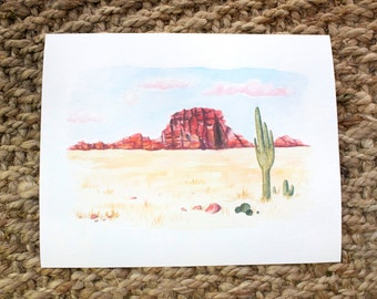 New Mexico, Watercolor Print, 5x7, 8x10, Wall Art, Nature, Paintings, Gift, Giclee Print