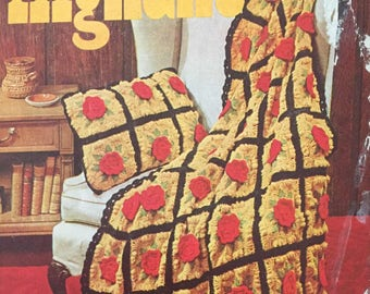 Vintage Afghans Crocheted & Knitted Pattern Book No. 202 PDF Download