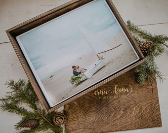 11 x 14 x 3 Wood Print Box (NO area for USB)