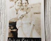 Pair of Peaches Vintage Photo Girlfriends
