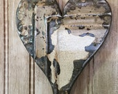 Ornate heart designed with antique tin ceiling tile