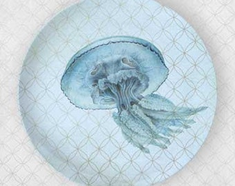 Jelly fish blue plate