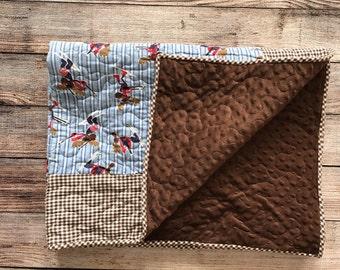 Darling sking Moose Flannel Blanket