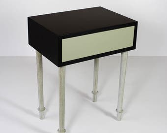 Console with concrete legs
