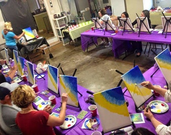 Vino and VanGogh Paint Night with Snack and Beverage