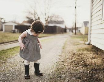 Girls dress; cotton dress; infant dress; pan collar