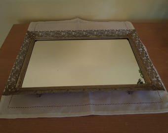 Vintage Victorian Mirrored Vanity Tray Circa 1940s