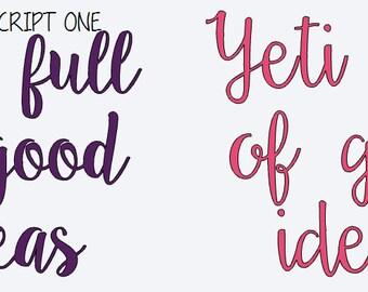 Yeti Full of Good Ideas Decal Yeti Cooler Decal Yeti Cup Decal