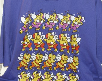 Girl Scout Cookie Program Award T- Shirt Vintage Retro We've Got it Together Purple Bee Size XL