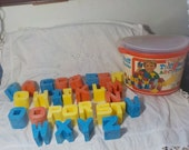 Tuff Stuff 28 Chunky ABC Blocks /1976 Mattel Toys/ Not Included in Coupon Sale :)Siof
