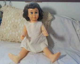 Chatty Cathy Doll Dark Hair and Sweet Freckles 1960, Mattel Doll, Vintage Dolls, Talking Dolls, Toy Dolls,