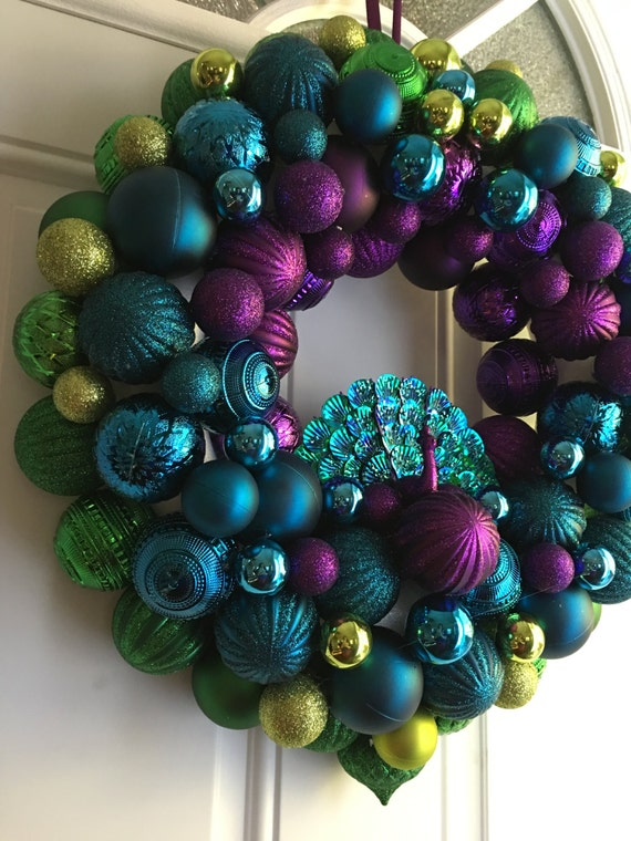 Gorgeous Peacock Wreath