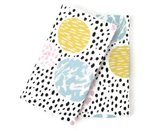 Suckpads for the Baby carrier / Babywearing / droolpads / strapcovers / Teethingpads / Abstract suckpads / Pastel Suckpads