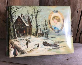 Antique Celluloid Photo Album, ca 1900, Fancy Musical Picture Album, Victorian Era