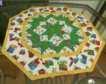 Quilted Christmas Table Topper Laurel Burch Christmas 339