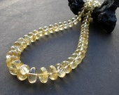 Citrine Necklace, Honey Citrine Descending Graduated Necklace 6mm to 15mm, 14kt Yellow Gold Filled Necklace