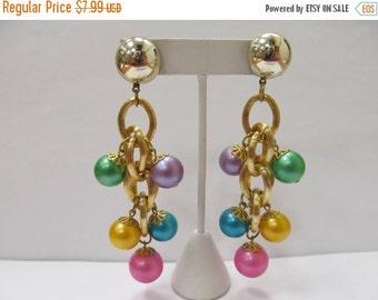 On Sale Retro Colorful Dangling Bauble Earrings Item K # 2287