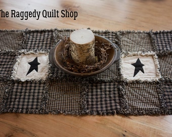 Black runner rag quilt