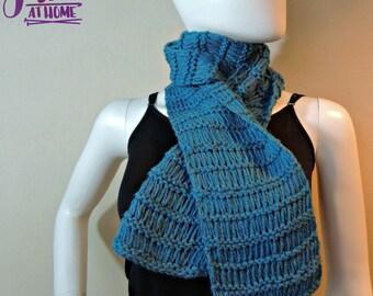 Basic Drop Stitch Scarf - Knit PATTERN PDF ONLY