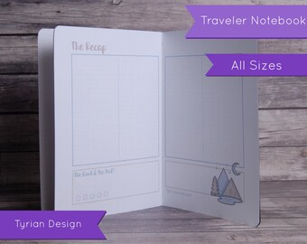 Travel Journal for Midori Traveler's Notebook, All Sizes, Adventure Plan, Vacation Planner, Road Trip Journal