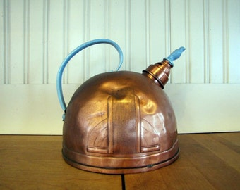 1920's Art Deco Solid Copper Kettle, Solid Copper, Art Deco, Copper, Kettle, Tea Kettle, Farmhouse Decor, Bird Whistler, Whistle, 1930's