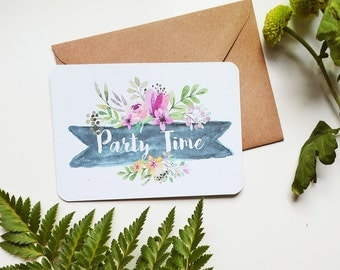 Spring Floral Rustic Party Invitations