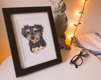 Pet Portrait - Mini Custom Illustration - OOAK - Personalised Gift