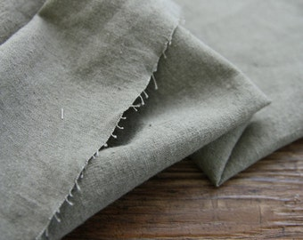 Khaki Linen Fabric, Linen Blend Fabric - By the Yard 95780