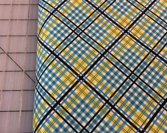 Half Yard cut of Denyse Schmidt - Shelburne Falls -  Complex Plaid - PWDS042 in Willow -  100% cotton by Free Spirit