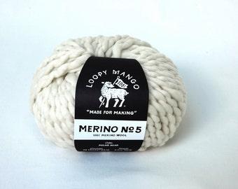Loopy Mango Merino No. 5 Yarn for Chunky Knits