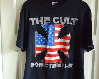 Vintage 1989 THE CULT Sonic Temple Tour T Shirt sz M