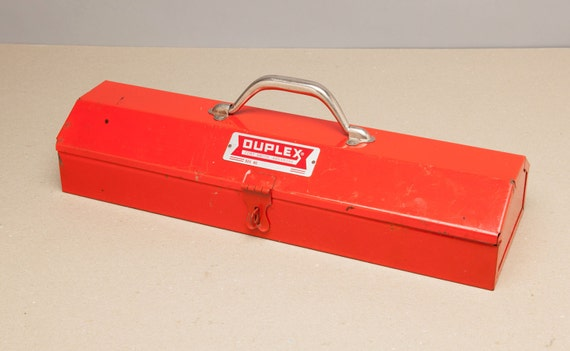 Like this item? & Vintage DUPLEX Tool Box Fort Smith Arkansas Nice Red Color Aboutintivar.Com